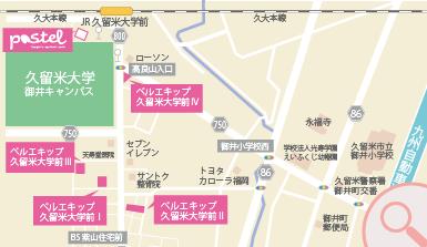 高田学生寮マップ